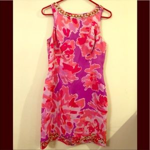 Lily Pulitzer Silk Fully Lined Dress with Beads